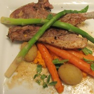 Roasted Lamb Chops with Carrot Puree