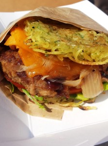Ramen burger (shoyu flavor)