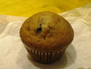 A medium-sized blueberry muffin contains about 143 calories from added sugar.