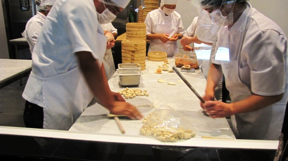 Making dumplings. Looks fun? Wait till you eat.