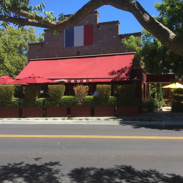The Bouchon Restaurant, another famous restaurant by Thomas Keller in Yountville, Napa Valley.