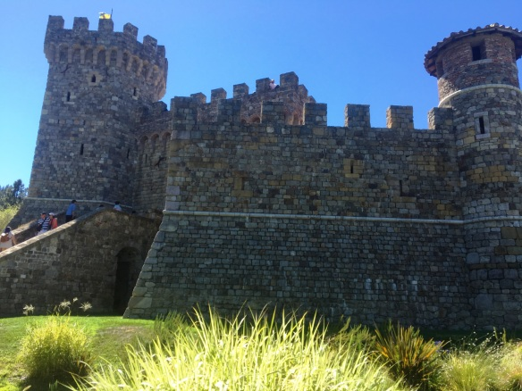"Castello di Amorosa Winery in Calistoga, Napa Valley. In addition to wine tasting, a tour is offered inside the Tuscan castle. ""Castello di Amorosa"" translates to ""castle of love"" in Italian."