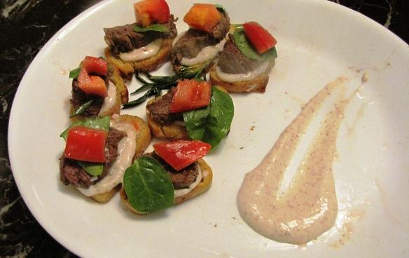 Beef Fillet Hors d'oeuvre German Mustard