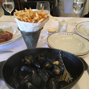 A play on a classic french bistro dish, moules frites