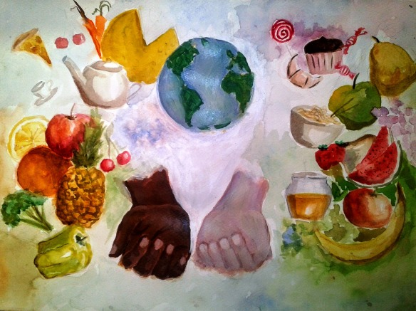 """social Justice of Food"" by Radisav Stijović, 11th Grade, Secondary Art School, ""Petar Lubarda"", Cetinje, Montenegro"
