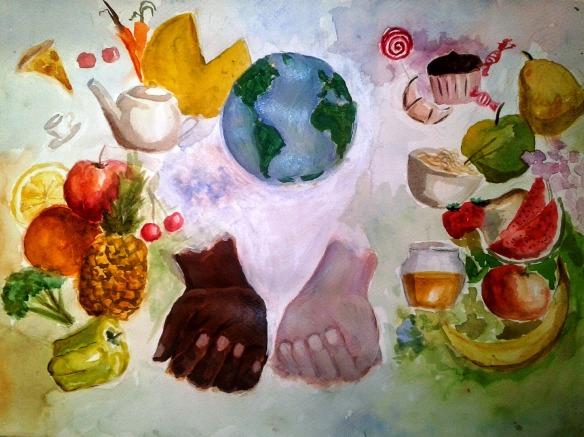 """""""social Justice of Food"""" by Radisav Stijović, 11th Grade, Secondary Art School, """"Petar Lubarda"""", Cetinje, Montenegro"""