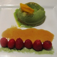 Matcha Green Tea Lava Cake with Caramel
